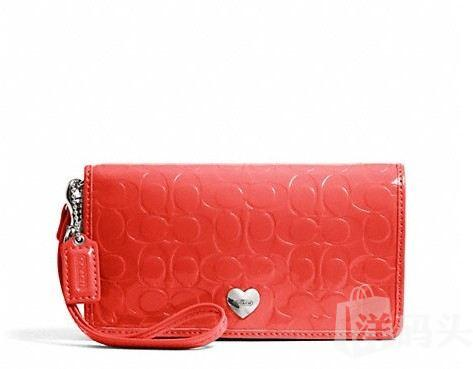 Coach蔻驰 EMBOSSED LIQUID GLOSS DEMI CLUTCH F49540 手腕钱包