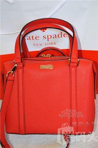 正品代购 kate spade wkru2102 十字纹波士顿桶包 美国直邮