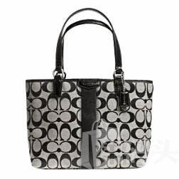 [护航直邮]Coach/寇驰 SIGNATURE STRIPE TOP HANDLE TOTE-F50792