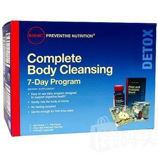 美国直邮 GNC 7天全身排毒 洁净身体 养颜清肠套装七日营养包