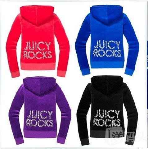 美国现货juicy Couture橘兹新款JC大水钻ROCKS天鹅绒JC套装