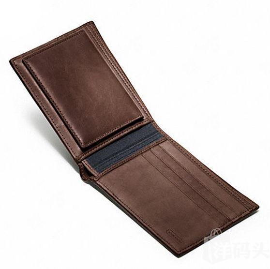 包邮包税Coach BLEECKER LEGACY LEATHER 男士带ID真皮钱包 74306