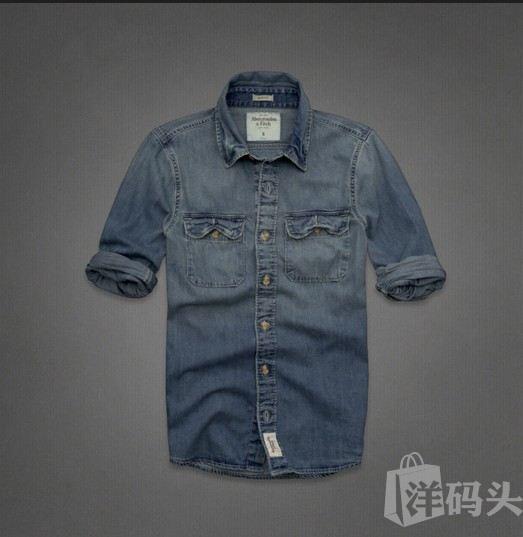 美国代购AF男式工装做旧牛仔衬衫Flagstaff Mountain Denim Shirt