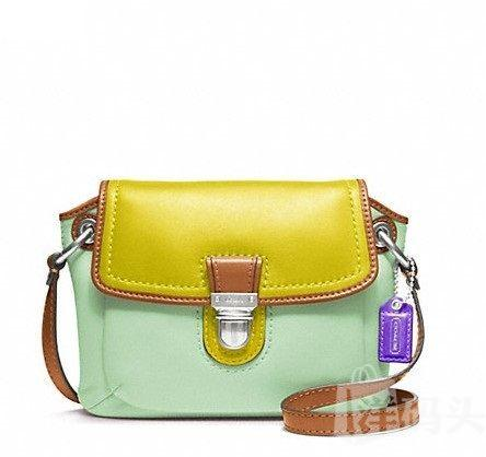 蔻驰 POPPY COLORBLOCK LEATHER FLAP CROSSBODY_STYLE   F48941
