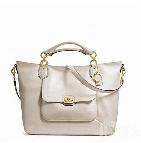 蔻驰 CAMPBELL TURNLOCK LEATHER IZZY FASHION SATCHEL_F24845