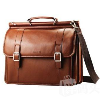 新秀麗真皮包 現貨 Samsonite - Flap-Over Business Case - Tan