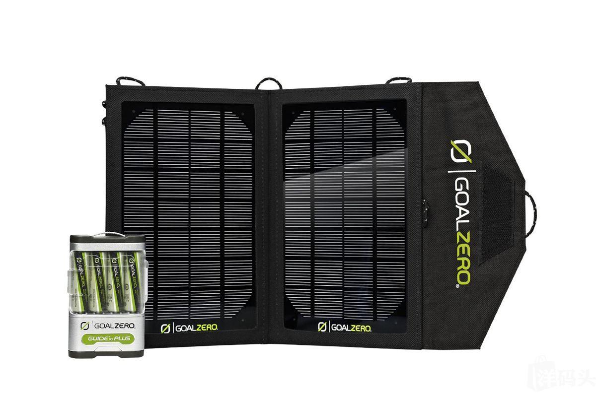 Goal Zero Guide 10 太阳能充电套装(含5号电池x4、4小时可充满)