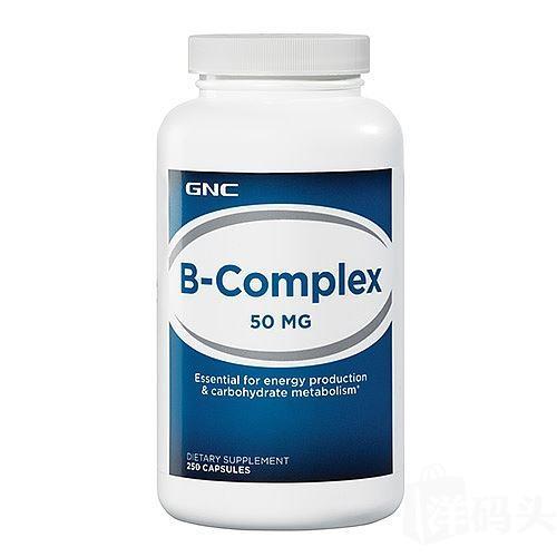 直邮包税 美国GNCB族维生素VB-50 250粒 排毒 有效抗疲劳