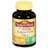 Nature Made Calcium Magnesium Zinc钙镁锌+D 100粒