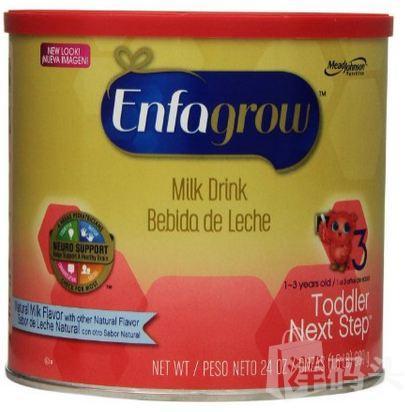 Enfamil(美赞臣三段3段 Enfagrow罐装 牛奶原味 美国直邮 新包装