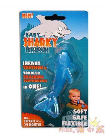Baby banana香蕉宝宝婴儿软牙胶鲨鱼款 硅胶乳牙牙刷