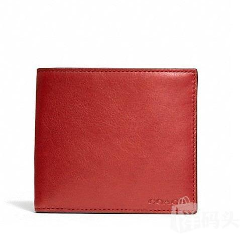 蔻驰 BLEECKER LEGACY LEATHER DOUBLE BILL WALLET_F74316