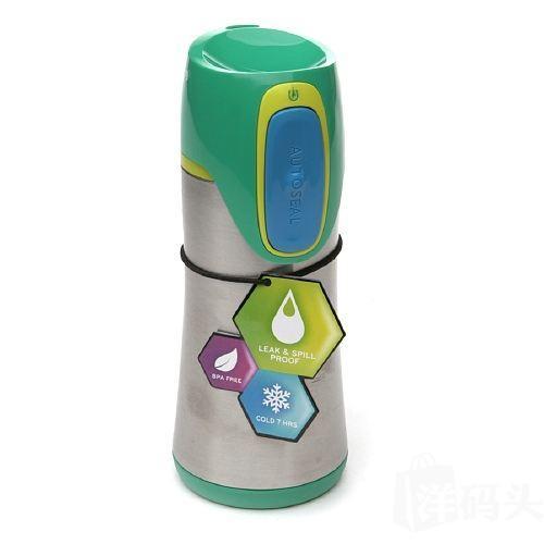 美国直邮 Contigo康迪克学生儿童保温杯 不锈钢水杯 保冷7小时