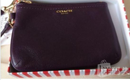 包邮包税COACH LEATHER SMALL WRISTLET 48689
