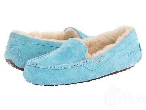 美国原盒包邮UGG Ansley 2014年新春款彩色船鞋平底鞋