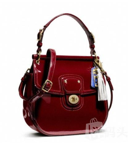 Coach蔻驰PATENT NEW WILLIS漆皮大号粽子包 21244
