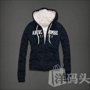 abercrombie&Fitch 深蓝色AF SHEA hoodie卫衣