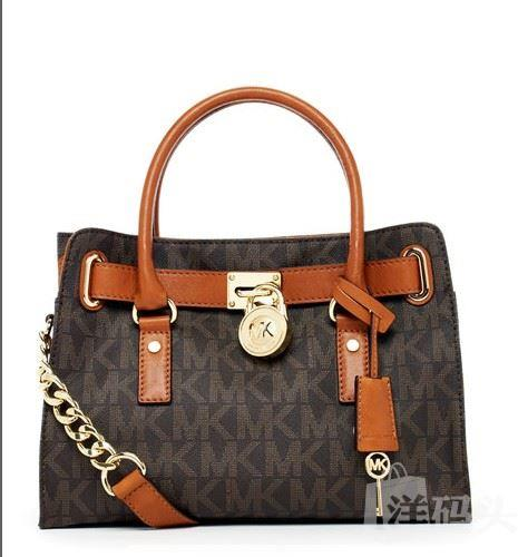 Michael Kors Hamilton East/ West Satchel MK 标志图形包