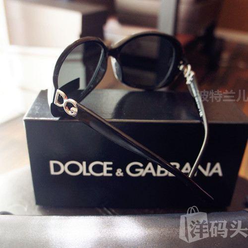 美国专柜DG/DOLCE GABBANA镜腿LOGO大框墨镜太阳镜4折特价包邮!