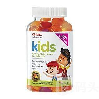 GNC Kids DHA儿童多维软糖复合维生素水果味120粒