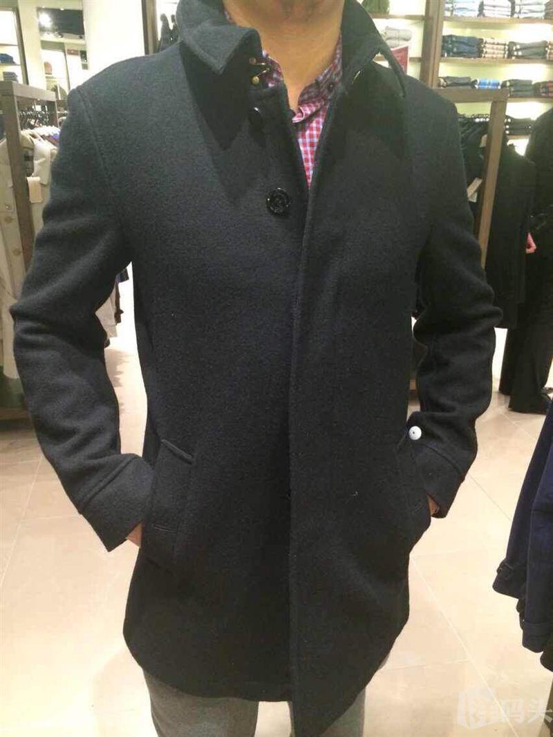 美国代购现货巴宝莉Burberry男士羊毛格纹内衬男士大衣