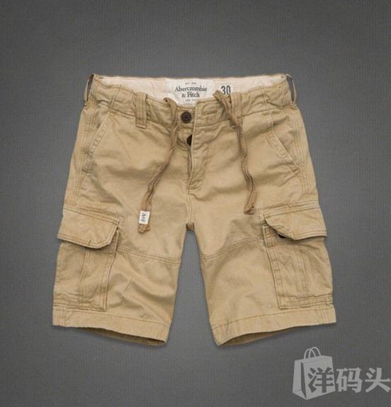 Abercrombie&Fitch男式工装做旧迷彩短裤AF Cargo Shorts