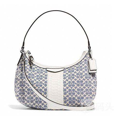 蔻驰 SIGNATURE STRIPE JACQUARD DEMI CROSSBODY_F29961