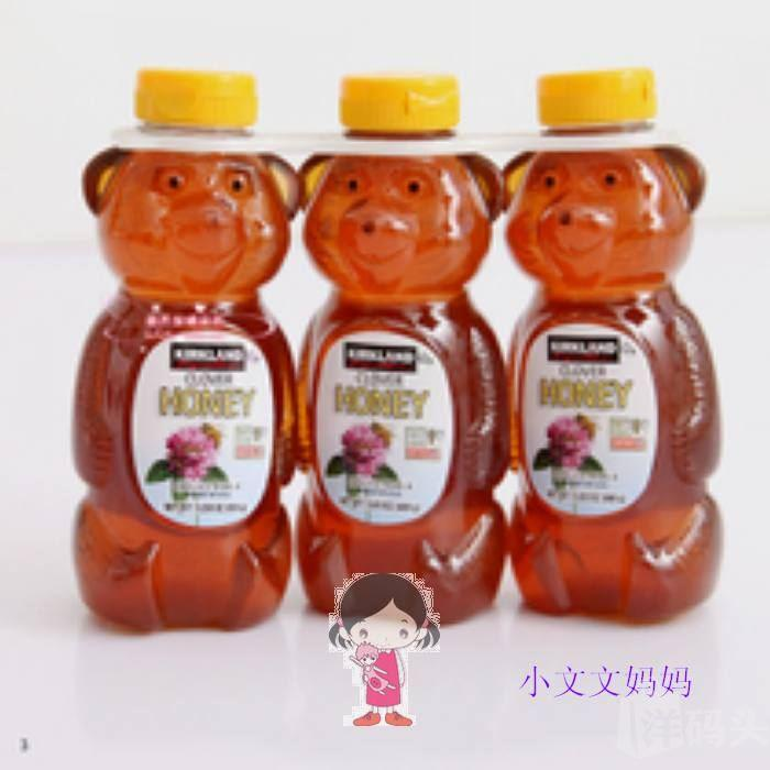 美国直邮 Kirkland Honey小熊100%天然纯蜂蜜  680g一瓶*3