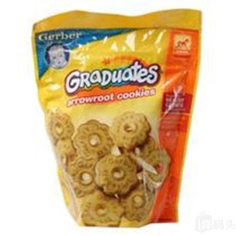 美国gerber 嘉宝香草圈圈饼干155克 婴儿饼干 磨牙饼干