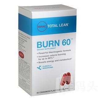 GNC 燃脂减肥配方Burn 60 燃脂提高60% 轻松运动减肥