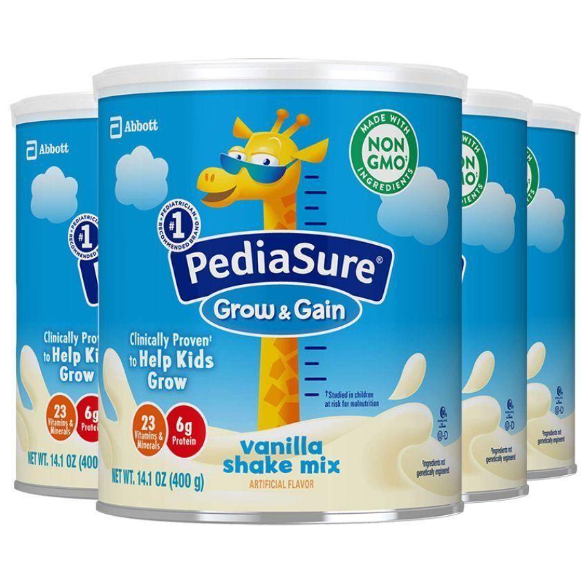 美国直邮雅培PediaSure香草味小安素儿童营养奶粉400克*4瓶