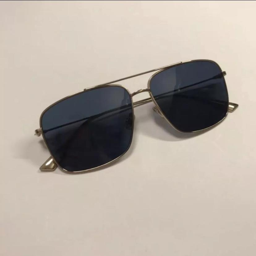 Dior迪奥女士眼镜金属细方框墨镜百搭太阳镜奢侈品DIORMONSIEUR2