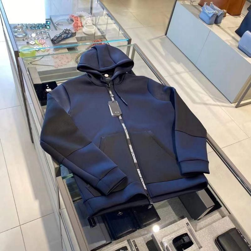 Armani 阿玛尼专柜特卖男款太空棉拉链卫衣外套