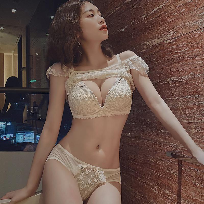 日系内衣女小胸聚拢收副乳调整型无钢圈平胸显大防下垂文胸套装
