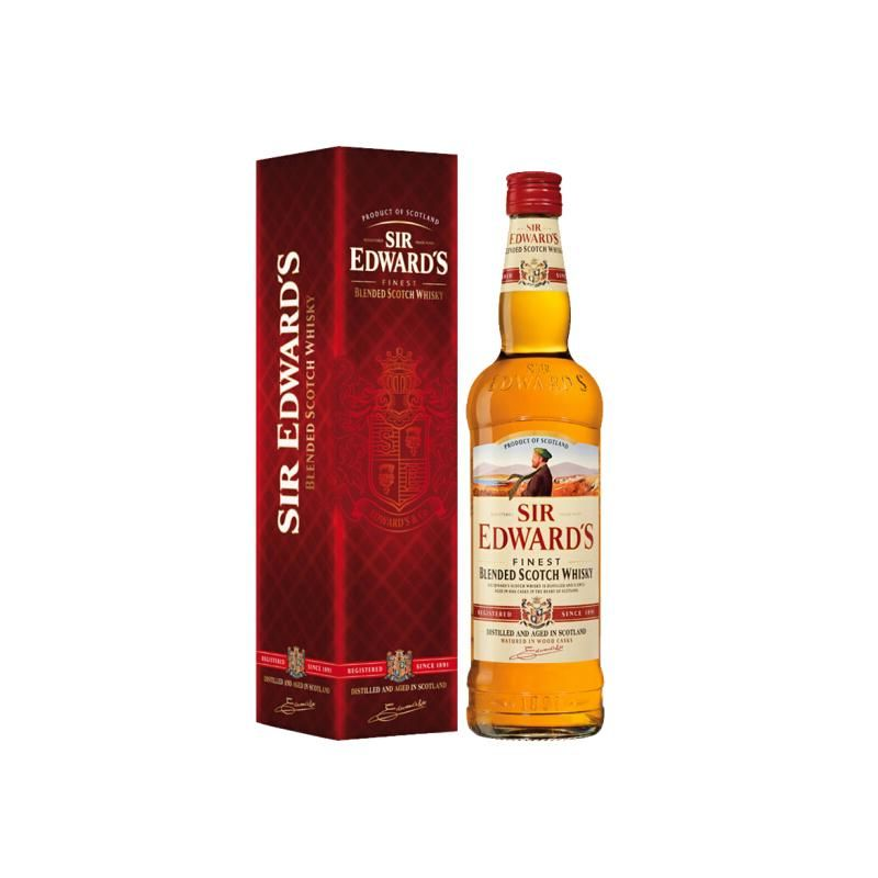 英国进口 爱德华爵士Sir Edward's苏格兰调和威士忌洋酒  700ml