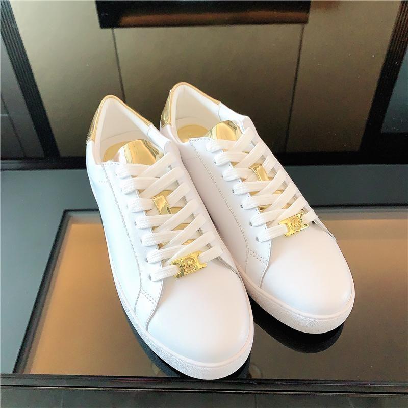 MK 女士女鞋经典休闲时尚百搭小白鞋平底鞋板鞋运动鞋