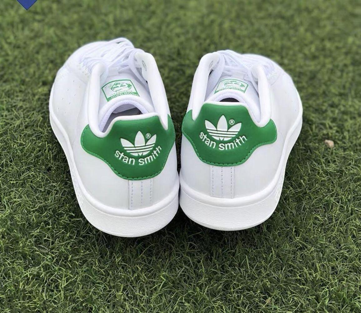 adidas阿迪达斯三叶草大童运动鞋,#6经典款绿尾小白鞋成人可穿