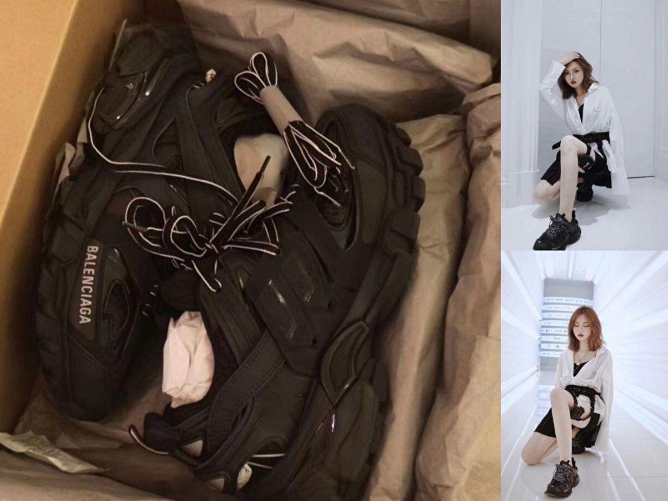 《现货秒发》巴黎世家balenciaga track全黑现货35码女款老爹鞋