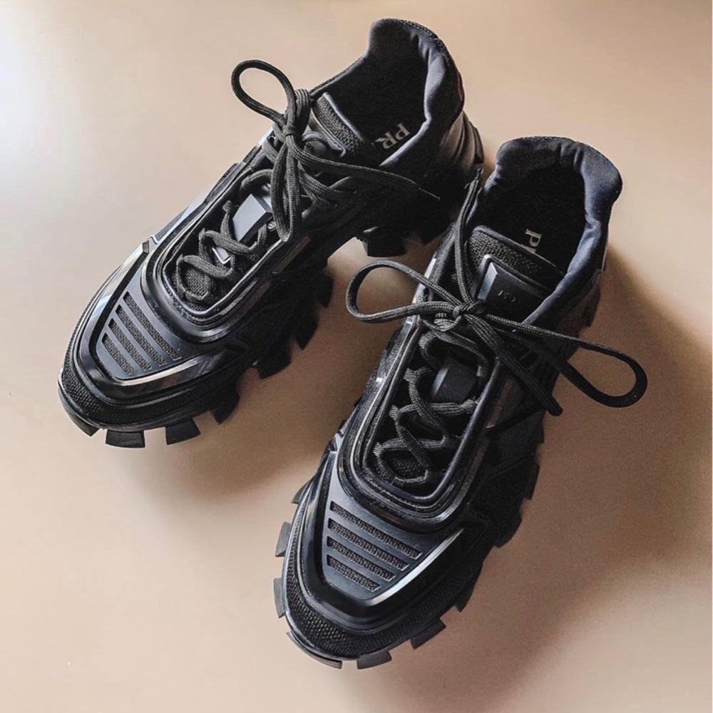 PRADA普拉达 女鞋 运动鞋 厚底鞋 老爹鞋 明星同款 锯齿鞋