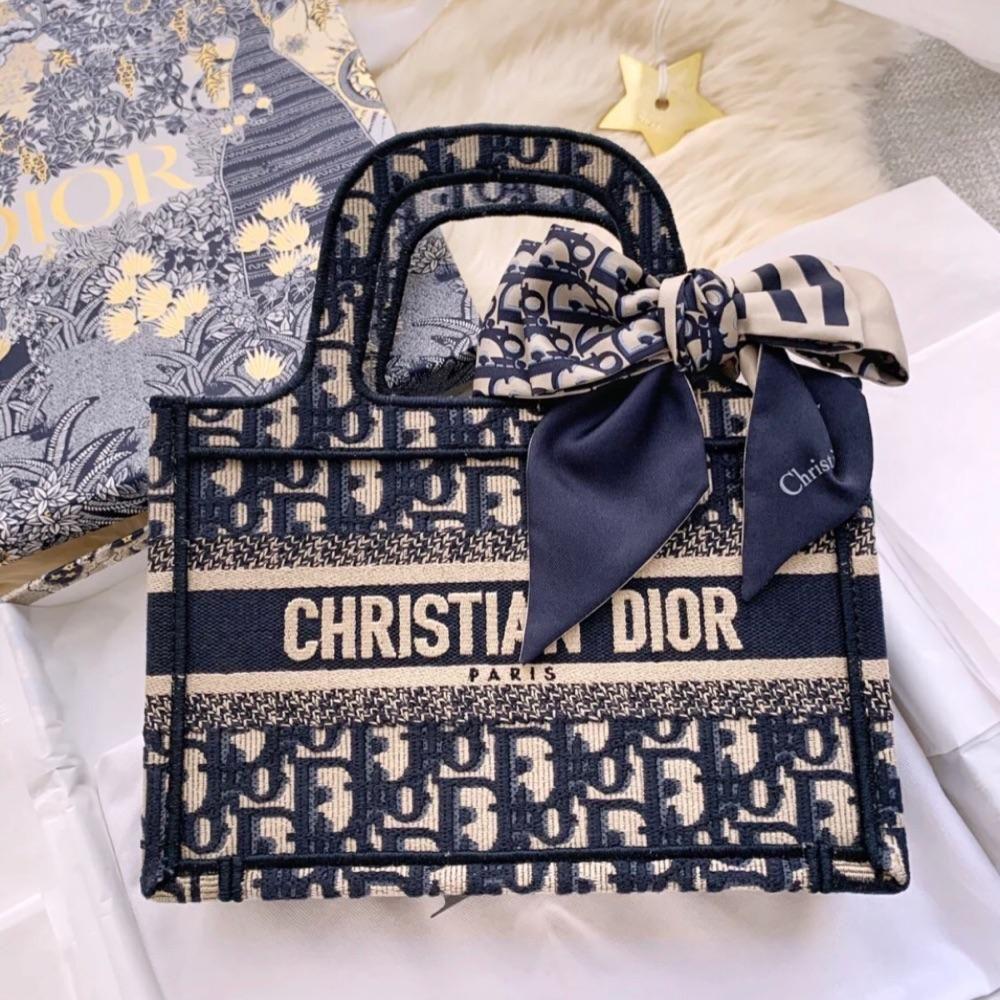 Dior 迪奥女包 爆款Mini tote 迷你托特包Booktote经典老花手提包