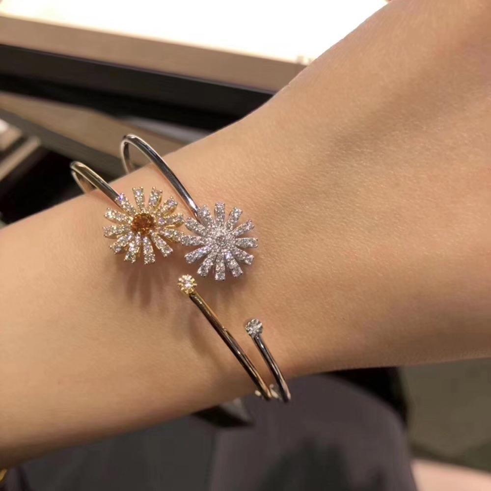 DAMIANI 玳美雅 白金/黄金 满钻花朵 手镯 Margherita系列 正品