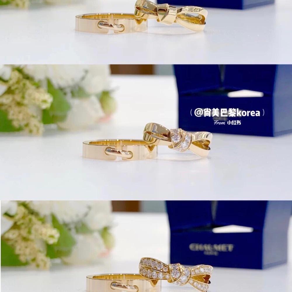 Chuamet 尚美 Liens 结·缘系列 戒指 盒证齐全 全新正品