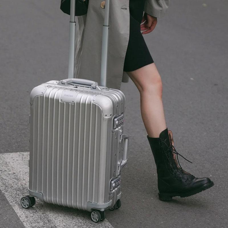 Rimowa日默瓦铝镁合金制Original银色登机旅行箱 21寸 92553004