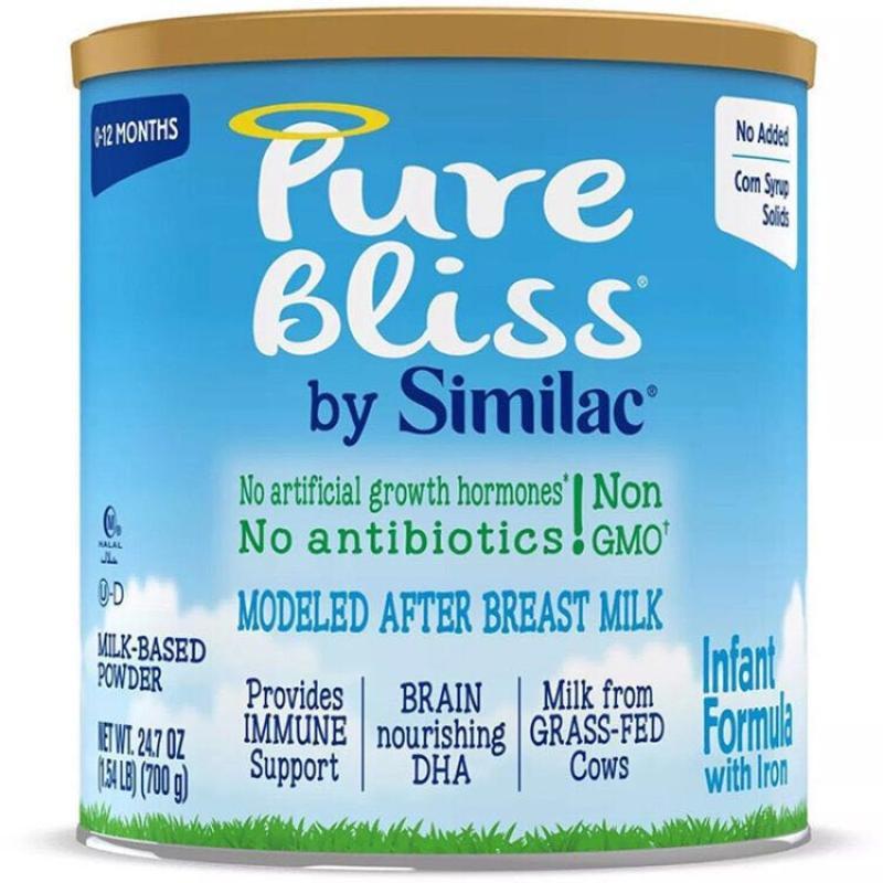 雅培(Abbott)similac心美力金盾一段婴儿草饲Pure Bliss奶粉700克